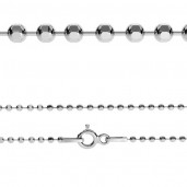Kugelkette, Silberkette, CPL 1,0 (40-60 cm)