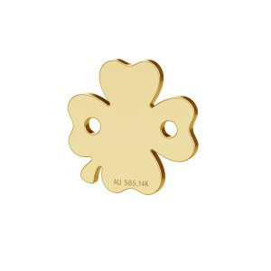 14K 585 Gold Klee-Anhänger, Verbinder, Goldschmuck, LKZ-00943 - 0,30