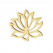 14K Gold AU 585, Lotus Pendant, Gold Jewelry,  LKZ-00771 - 0,30