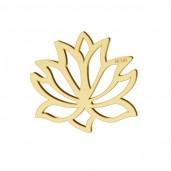 14K Gold AU 585, Lotusblume-Anhänger, Lotusblüte, Goldschmuck, LKZ-00771 - 0,30