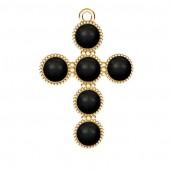 Kreuz-Anhänger, Swarovski Perlen, Silberschmuck, ODL-00666 20,5x29,5 mm ver.3