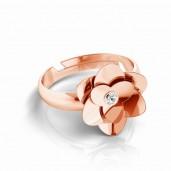 Blumenring mit Kristalle, Ringteile, Silberschmuck, ODL-00624