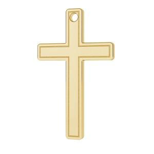 Kreuz-Anhänger, 14K Gold AU 585, Goldschmuck, LKZ14K-50013 - 0,30 9,5x15 mm