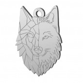 Wolf-Anhänger, Silberschmuck, Tierschmuck, Schmuckteile, LKM-2223 - 0,50 14x20 mm