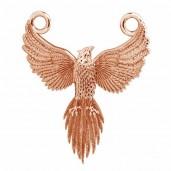 Phoenix Flügel-Anhänger, Silberschmuck, Schmuckteile, ODL-00823 20X24 MM