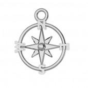 Kompass-Anhänger, Silberschmuck, Schmuckteile, ODL-00465