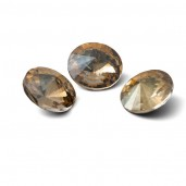 Round Crystal 12mm, RIVOLI 12 MM IRIDESCENT GOLD
