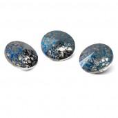 Round Crystal 12mm, RIVOLI 12 MM METALIC BLUE PATINA, GAVBARI