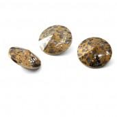 Round Crystal 12mm, RIVOLI 12 MM GOLDEN PATINA, GAVBARI