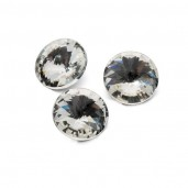 Round Crystal 12mm, RIVOLI 12 MM CRYSTAL, GAVBARI