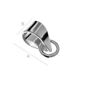 Ösenaufhänger mit Biegeringe, Schmuckteile, KRW 7 - 0,50