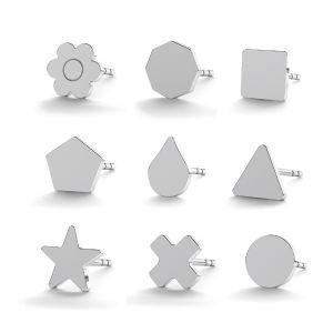 Ohrstecker in geometrischen Formen  LK-0617 KLS