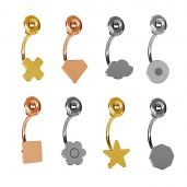 Geometrische figuren swing ohrringe - LK-0617 AU / RH