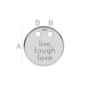 Leben, Lieben und lachen-Anhänger, Silberschmuck,  LK-0647 - 0,80