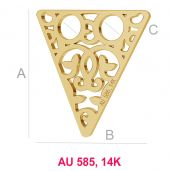 Triangle openwork gold 14K pendant LKZ-00008 - 0,30 mm
