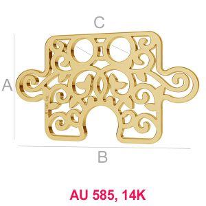 14K 585 Gold Puzzleteil Anhänger LKZ-00005 - 0,30 mm