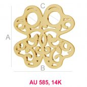 Klee14K gold anhänger LKZ-00006 - 0,30 mm