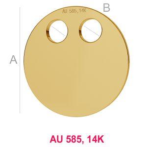 14K Gold Anhänger LKZ-00004 - 0,30 mm