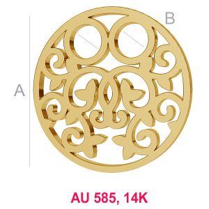 14K 585 Gold Anhänger LKZ-00007 - 0,30 mm