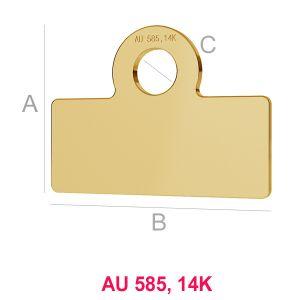 14K 585 Gold Anhänger LKZ-00017 - 0,30 mm
