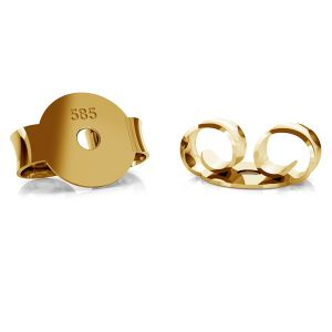 14K 585 Gold Ohrstecker-Verschluss  BARZ 1