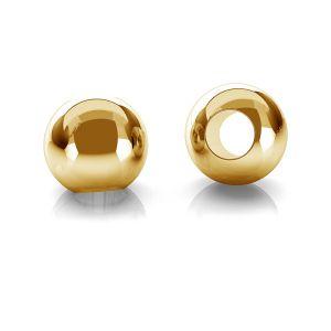 14K 585 Goldperle glänzend, 2,0mm mit 0,9mm Öffnung  P2LZ 2,0 F:0,9