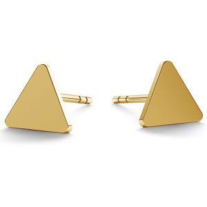 14K 585 Gold Dreieck-Ohrstecker LKZ-00935 KLS - 0,30 mm