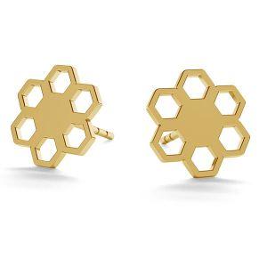 14K 585 Gold Blume-Ohrstecker LKZ-00668 KLS - 0,30 mm