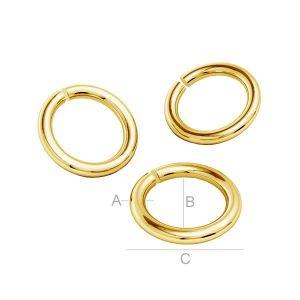 14K 585 Gold Biegeringe offen KC-0,90x2,15