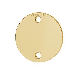 Runder-Anhänger, 14K 585 Gold, Goldschmuck, LKZ-00094 - 0,30 mm