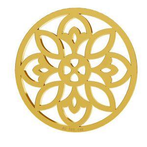 Rosette anhänger, 14K gold, LKZ-00619 - 0,30
