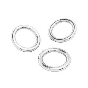 Ösen/Biegeringe (gelötet), silber 925, KCZ-0,80x3,22